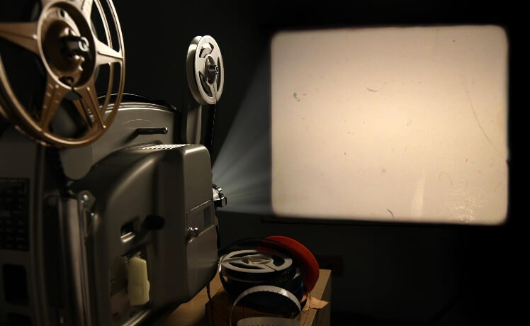 film and projectors take up valuable space