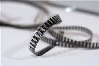 A picture of knotted 8mm film
